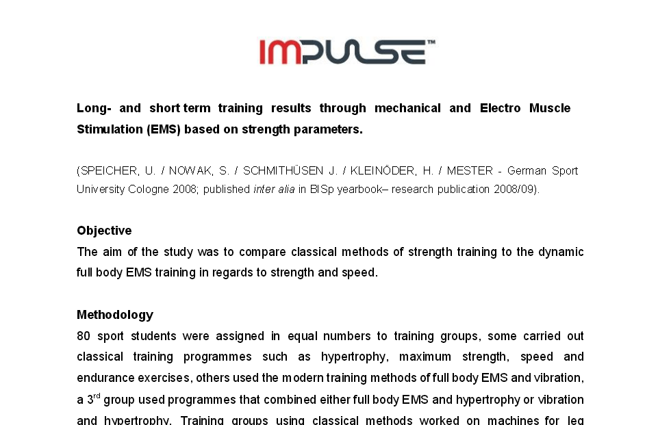 EMS Study Long Short Term Results
