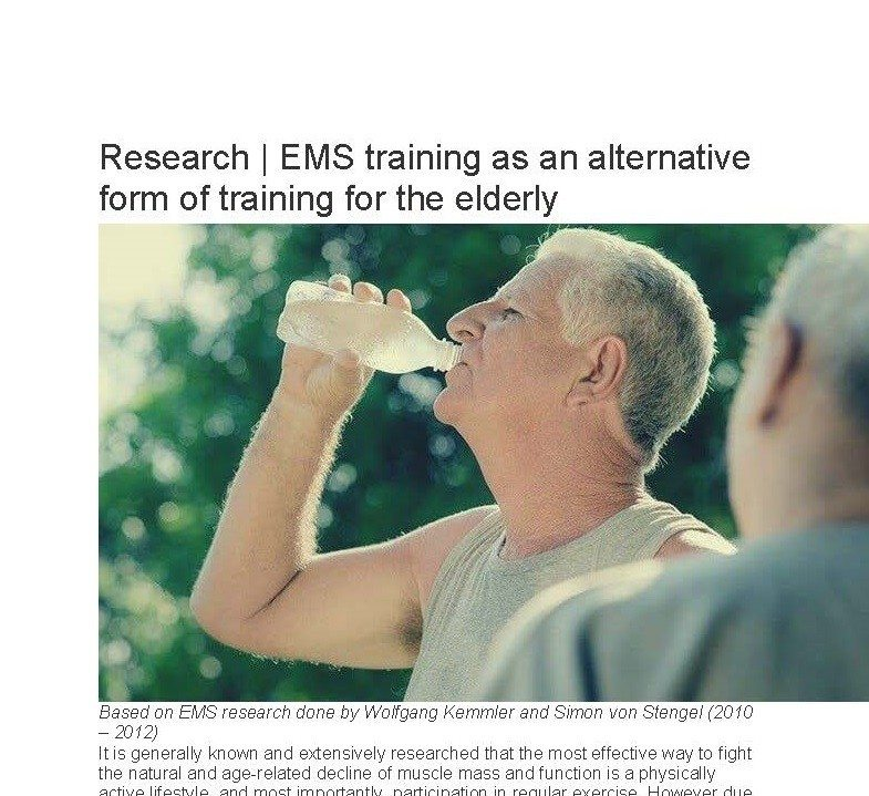 EMS studies on all age groups